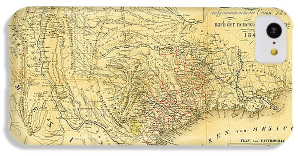 1849 Texas Map IPhone 5c Case