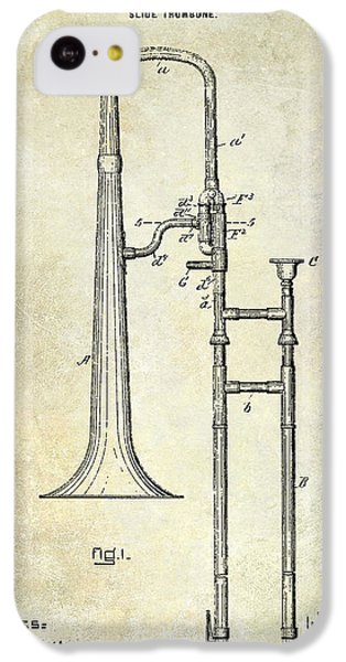 1902 Trombone Patent IPhone 5c Case by Jon Neidert