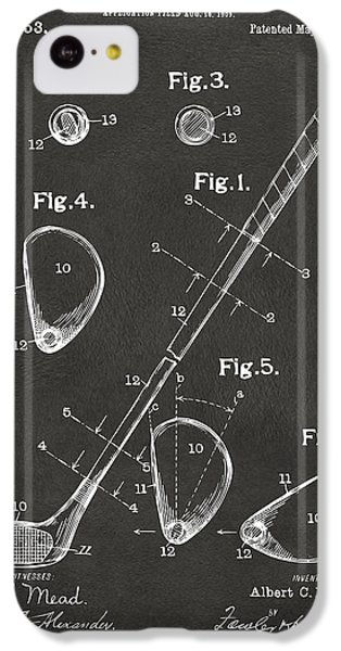 1910 Golf Club Patent Artwork - Gray IPhone 5c Case by Nikki Marie Smith