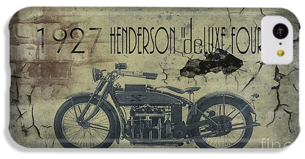 Motorcycle iPhone 5c Case - 1927 Henderson Vintage Motorcycle by Cinema Photography