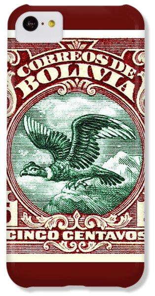 Condor iPhone 5c Case - 1928 Bolivia Andean Condor Postage Stamp by Retro Graphics