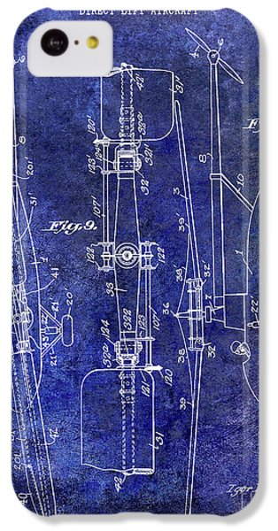 1935 Helicopter Patent Blue IPhone 5c Case by Jon Neidert