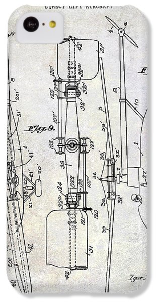 1935 Helicopter Patent  IPhone 5c Case by Jon Neidert