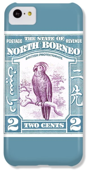 Cockatoo iPhone 5c Case - 1939 North Borneo Palm Cockatoo Postage Stamp by Retro Graphics