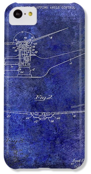1947 Helicopter Patent Blue IPhone 5c Case by Jon Neidert