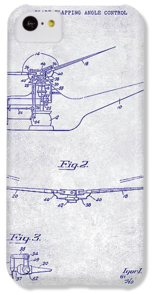 1947 Helicopter Patent Blueprint IPhone 5c Case by Jon Neidert