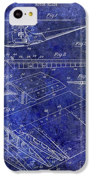 1949 Helicopter Patent Blue IPhone 5c Case by Jon Neidert