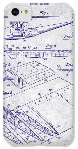 1949 Helicopter Patent Blueprint IPhone 5c Case by Jon Neidert