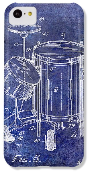 Drum iPhone 5c Case - 1951 Drum Kit Patent Blue by Jon Neidert