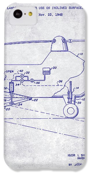 1953 Helicopter Patent Blueprint IPhone 5c Case by Jon Neidert