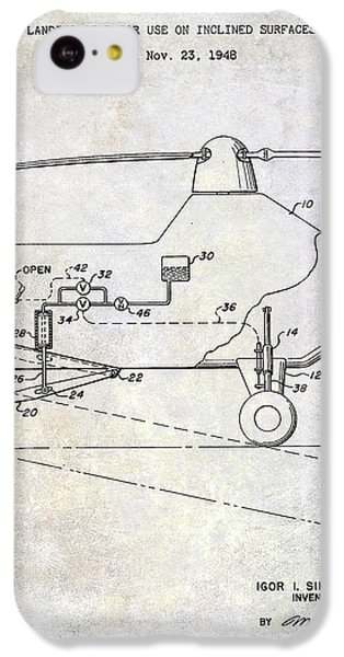 1953 Helicopter Patent IPhone 5c Case by Jon Neidert