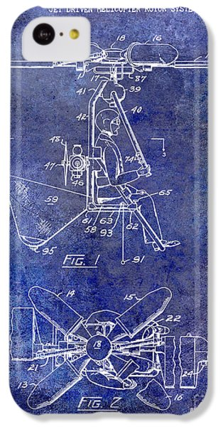 1956 Helicopter Patent Blue IPhone 5c Case by Jon Neidert