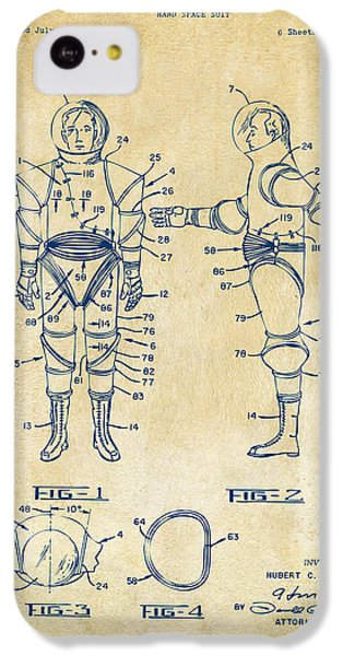 1968 Hard Space Suit Patent Artwork - Vintage IPhone 5c Case