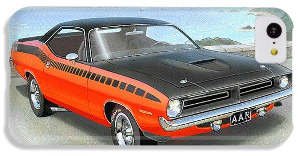 1970 Barracuda Aar  Cuda Classic Muscle Car IPhone 5c Case by John Samsen