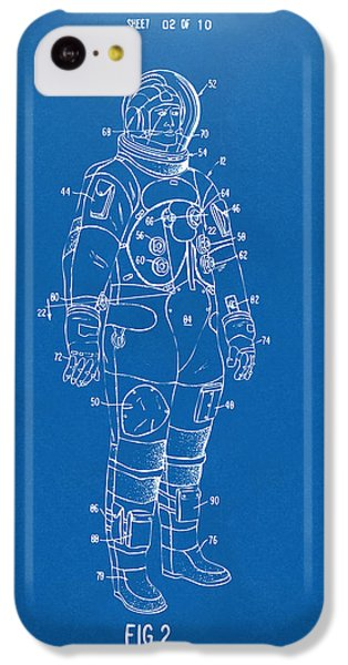 1973 Astronaut Space Suit Patent Artwork - Blueprint IPhone 5c Case