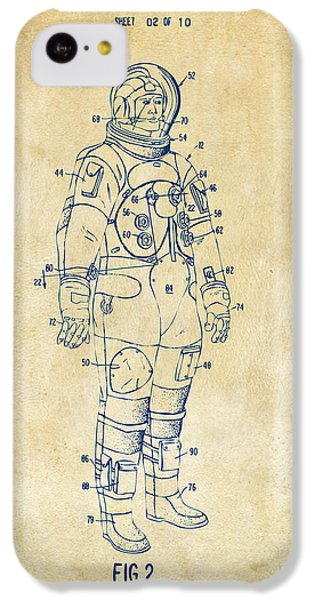 1973 Astronaut Space Suit Patent Artwork - Vintage IPhone 5c Case