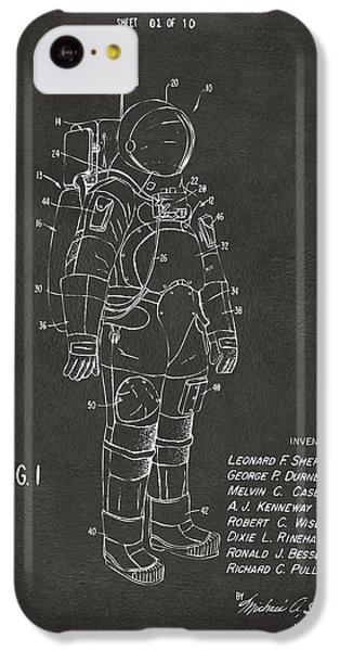 Astronauts iPhone 5c Case - 1973 Space Suit Patent Inventors Artwork - Gray by Nikki Marie Smith