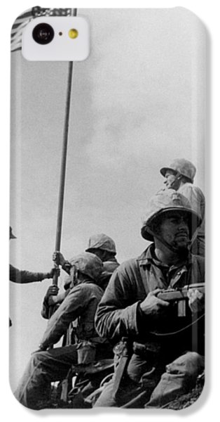 1st Flag Raising On Iwo Jima  IPhone 5c Case by War Is Hell Store