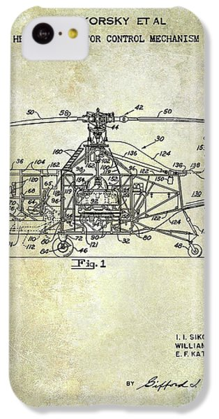 1950 Helicopter Patent IPhone 5c Case by Jon Neidert