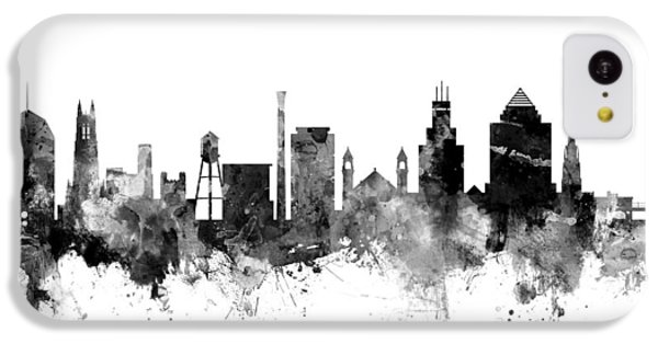 Duke iPhone 5c Case - Durham North Carolina Skyline by Michael Tompsett