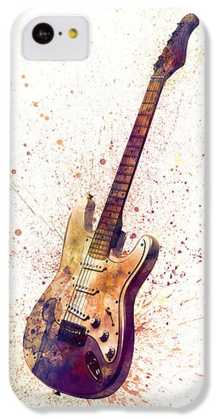 Musical iPhone 5c Case - Electric Guitar Abstract Watercolor by Michael Tompsett