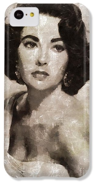 Elizabeth Taylor iPhone 5c Case - Elizabeth Taylor, Vintage Hollywood Legend By Mary Bassett by Mary Bassett