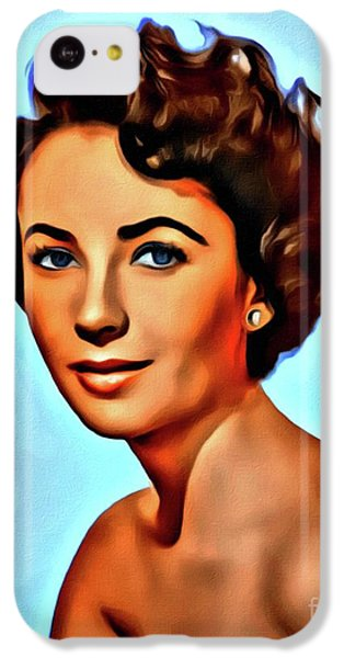 Elizabeth Taylor iPhone 5c Case - Elizabeth Taylor, Vintage Hollywood Legend by Mary Bassett