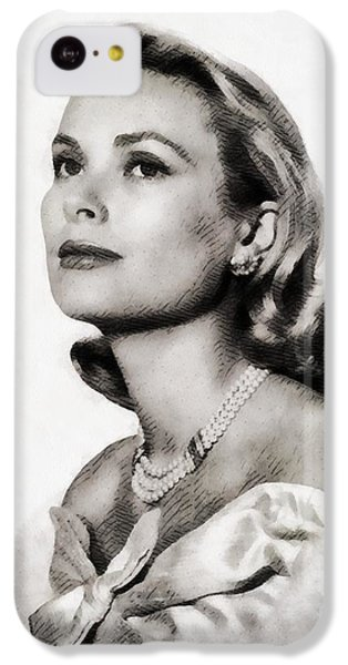 Grace Kelly iPhone 5c Case - Grace Kelly, Vintage Hollywood Actress by John Springfield
