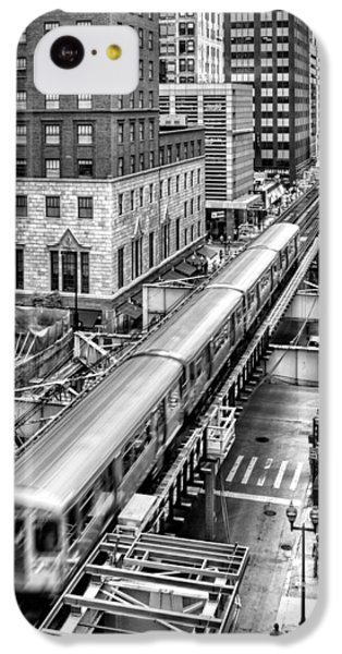 Historic Chicago El Train Black And White IPhone 5c Case by Christopher Arndt