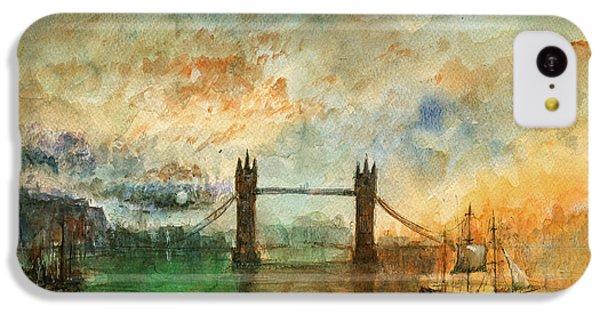 London Watercolor Painting IPhone 5c Case by Juan  Bosco