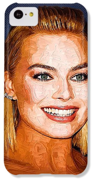 Margot Robbie Art IPhone 5c Case by Best Actors
