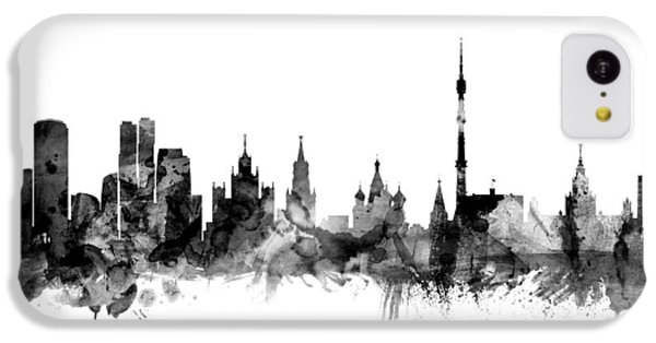 Moscow Skyline iPhone 5c Case - Moscow Russia Skyline by Michael Tompsett