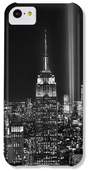 City Scenes iPhone 5c Case - New York City Tribute In Lights Empire State Building Manhattan At Night Nyc by Jon Holiday