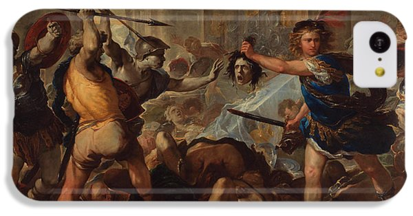 Gorgon iPhone 5c Case - Perseus Turning Phineas And His Followers To Stone by Luca Giordano
