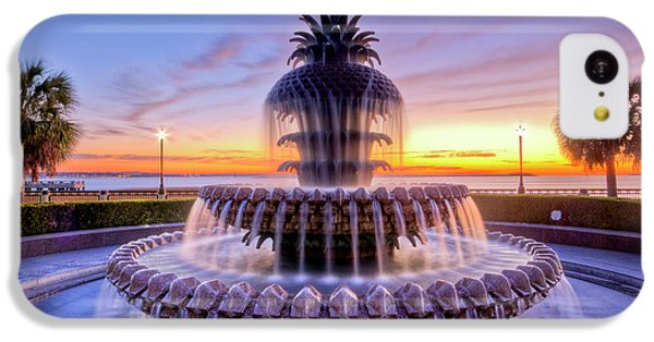 Pineapple Fountain Charleston Sc Sunrise IPhone 5c Case