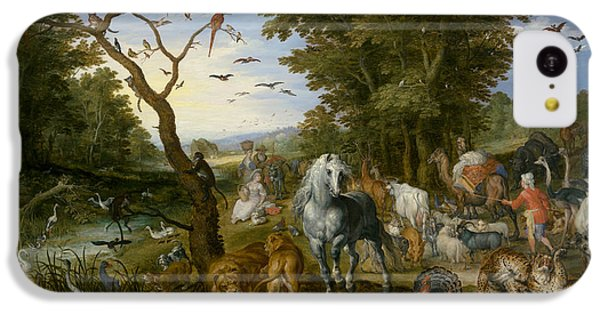 The Entry Of The Animals Into Noah's Ark IPhone 5c Case by Jan Brueghel the Elder