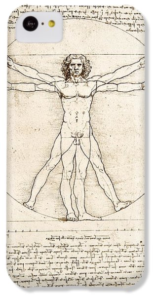 The Proportions Of The Human Figure IPhone 5c Case by Leonardo Da Vinci