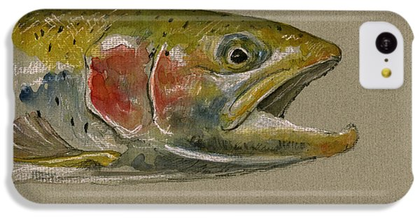 Trout iPhone 5c Case - Trout Watercolor Painting by Juan  Bosco