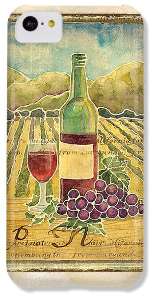 Vineyard Pinot Noir Grapes N Wine - Batik Style IPhone 5c Case by Audrey Jeanne Roberts