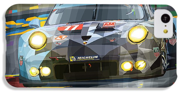 Car iPhone 5c Case - 2015 Le Mans Gte-am Porsche 911 Rsr by Yuriy Shevchuk