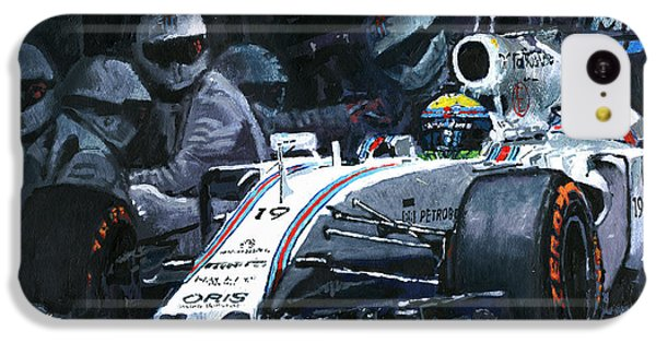 2015 Williams Fw37 F1 Pit Stop Spain Gp Massa  IPhone 5c Case by Yuriy Shevchuk