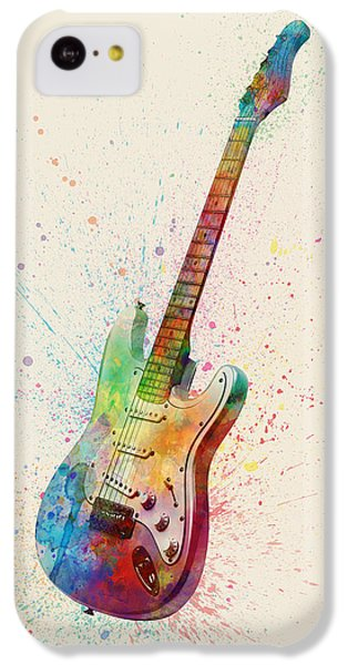 Electric Guitar Abstract Watercolor IPhone 5c Case