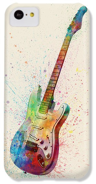 Guitar iPhone 5c Case - Electric Guitar Abstract Watercolor by Michael Tompsett