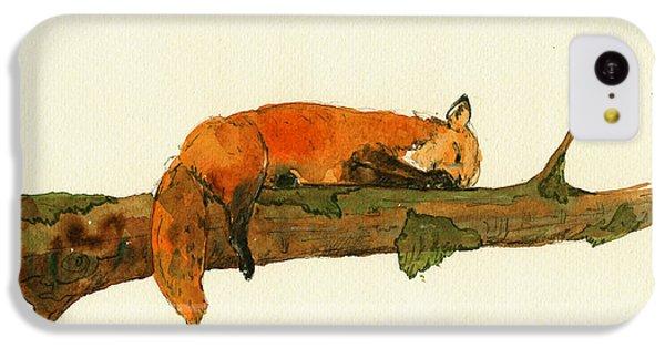 Fox Sleeping Painting IPhone 5c Case
