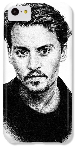 Johnny Depp IPhone 5c Case by Andrew Read