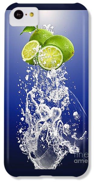 Lime Splash IPhone 5c Case by Marvin Blaine