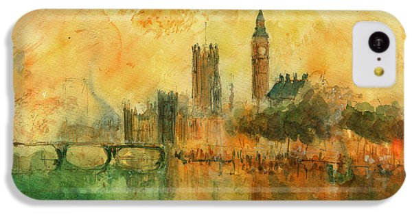 Big Ben iPhone 5c Case - London Watercolor Painting by Juan  Bosco