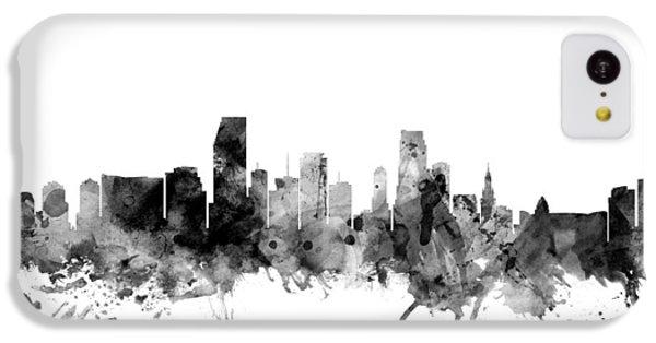 Miami iPhone 5c Case - Miami Florida Skyline by Michael Tompsett
