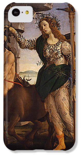 Pallas And The Centaur IPhone 5c Case by Sandro Botticelli