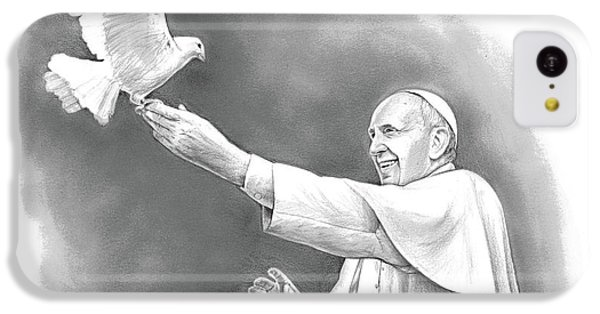Dove iPhone 5c Case - Pope Francis by Greg Joens